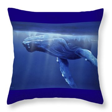 Humpback Portrait Throw Pillow