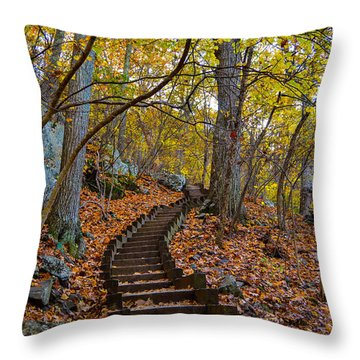 Humpback Rock Trail Throw Pillow