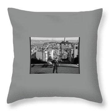 Humphrey Bogart Film Noir Dark Passage Telegraph Hill And Coit Tower San Francisco 1947 Throw Pillow