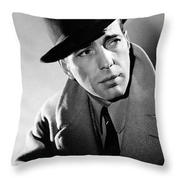 Humphrey Bogart Throw Pillow