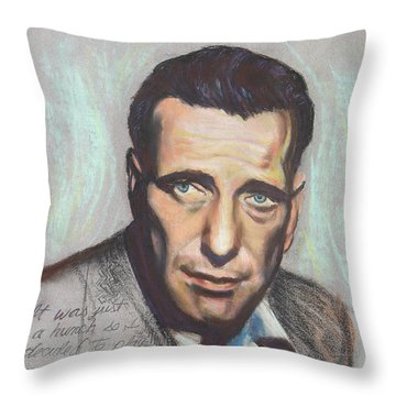 Humphrey Bogart  Not A Chess Piece Was Out Of Place Throw Pillow by Kean Butterfield
