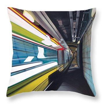 Throw Pillow featuring the painting Humphrey Terminal by Jude Labuszewski