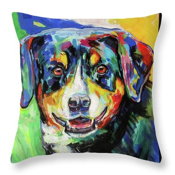 Cora Throw Pillow by Koro Arandia