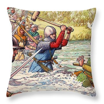 Hundred Years War Throw Pillow