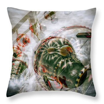 Throw Pillow featuring the photograph Hung Up And Strung Out by Wayne Sherriff