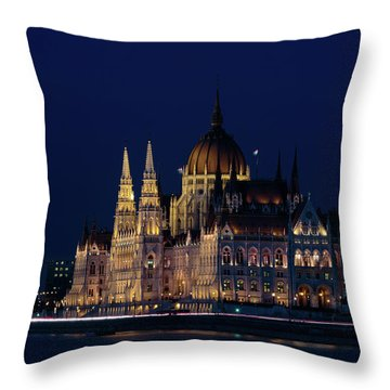 Hungarian Parliament Building #1 Throw Pillow