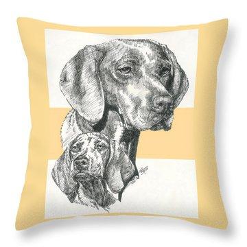 Hungarian Vizsla Throw Pillow by Barbara Keith