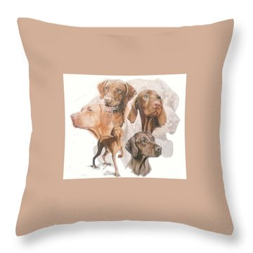 Hungarian Vizsla W/ghost Throw Pillow
