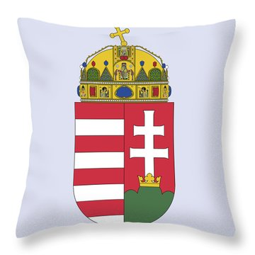 Throw Pillow featuring the drawing Hungary Coat Of Arms by Movie Poster Prints