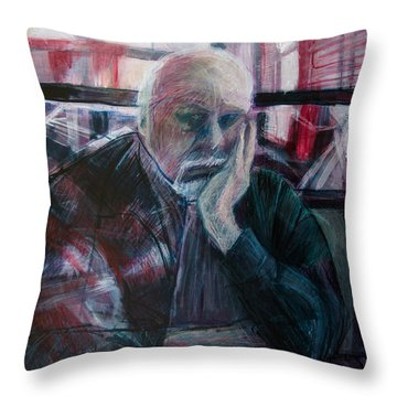 Hunger At The Double T Throw Pillow