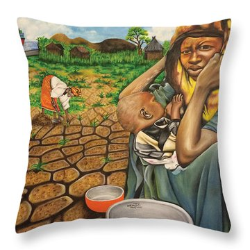 Hunger In The Land Of Plenty Throw Pillow