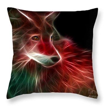 Hunger Prowl Throw Pillow by Peter Piatt