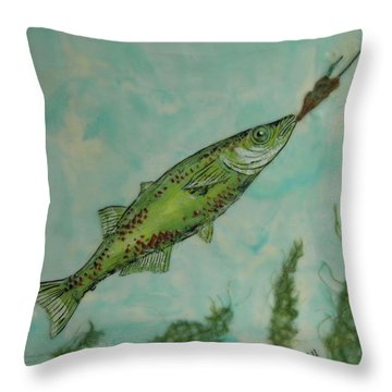 Hungry Throw Pillow by Terry Honstead