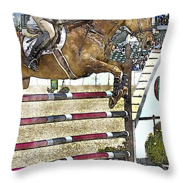 Hunter Jumper Equestrian Throw Pillow