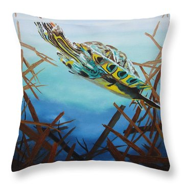Hunter Throw Pillow by Stuart Engel