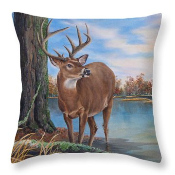 Hunters Dream Sold Throw Pillow