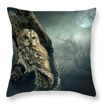 Hunter's Moon Throw Pillow by Brian Tarr