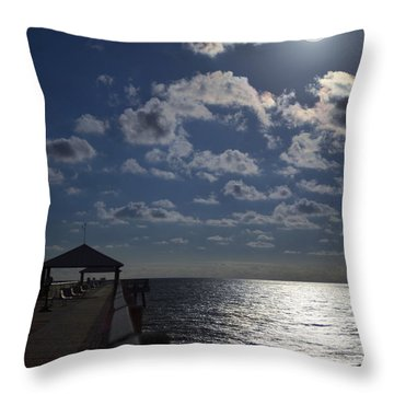 Throw Pillow featuring the photograph Hunter's Moon by Laura Fasulo