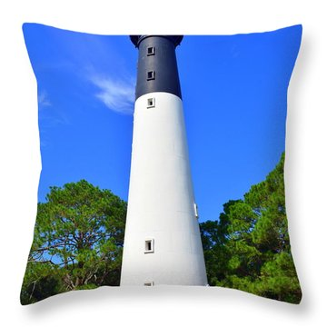 Hunting Island Lighthouse Beaufort Sc Throw Pillow