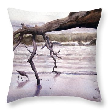 Hunting Island Sculpture Throw Pillow