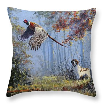 Hunting Stories Throw Pillow