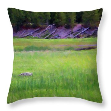 Throw Pillow featuring the photograph Hunting by Sue Collura