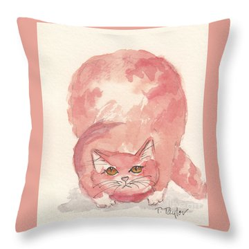 Hunting Throw Pillow by Terry Taylor