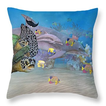 Huntington Beach Imaginative  Throw Pillow