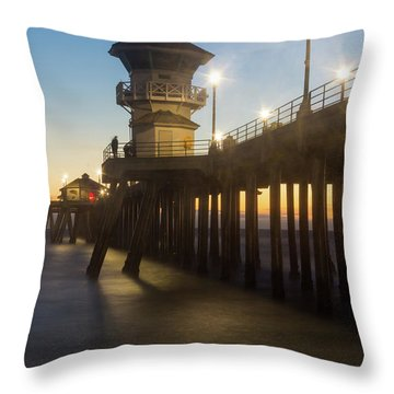 Huntington Peir  Throw Pillow