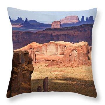 Hunt's Mesa Spotlighting Throw Pillow