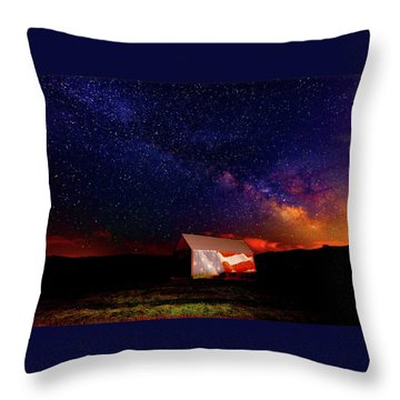 Huntsville Barn Throw Pillow