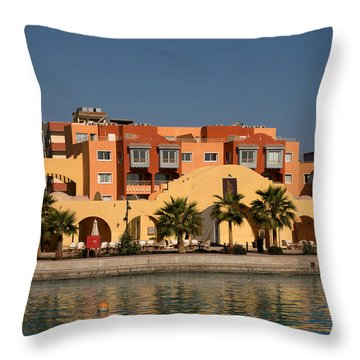 Hurghada Marina Throw Pillow by Aivar Mikko
