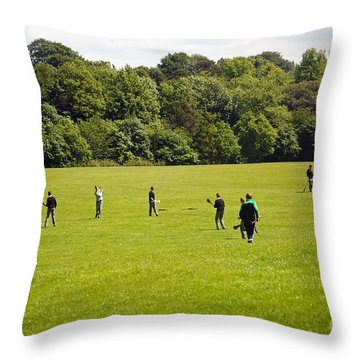 Hurling Practice Throw Pillow