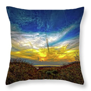 Huron Evening 2 Throw Pillow by Steve Harrington