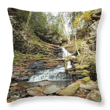 Huron - Ricketts Glen Throw Pillow