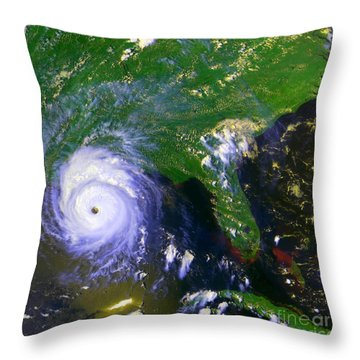 Hurricane Andrew, Goes Image, 1992 Throw Pillow