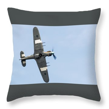 Throw Pillow featuring the photograph Hurricane From Below Sunderland Air Show 2014 by Scott Lyons