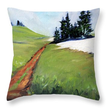 Throw Pillow featuring the painting Hurricane Hill by Nancy Merkle