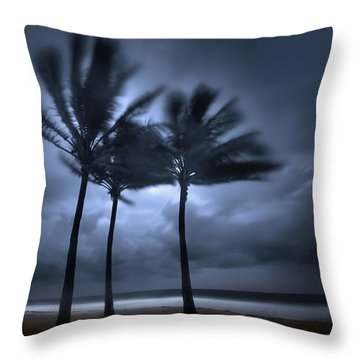 Hurricane Matthew Throw Pillow by Mark Andrew Thomas