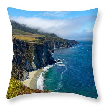 Hurricane Point In The Clouds Throw Pillow