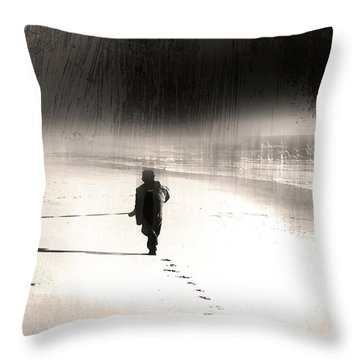 Throw Pillow featuring the photograph Hurry Home by Gray  Artus