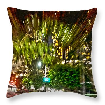 hurry up - in L.A. Throw Pillow