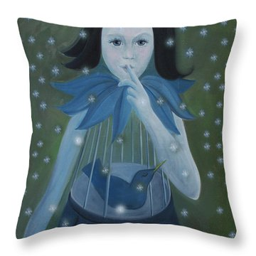 Hush - Hush Throw Pillow