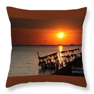 Husum Sunset Throw Pillow