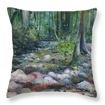 Hutan Perdic Forest Malaysia 2016 Throw Pillow by Enver Larney