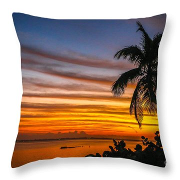 Hutchinson Island Sunrise #1 Throw Pillow