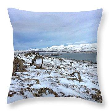Hvalfjoerdurs Wintersun Throw Pillow