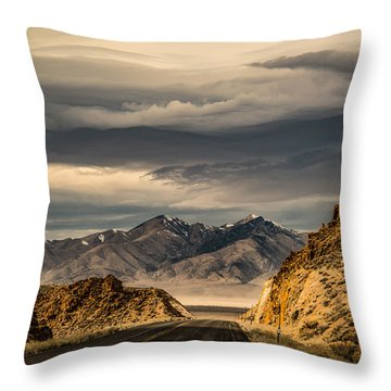 Hwy 50 New Pass Summit Throw Pillow