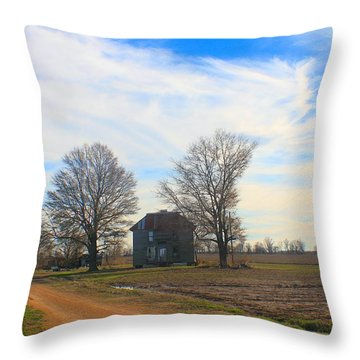 Hwy 8 Old House 2 Throw Pillow