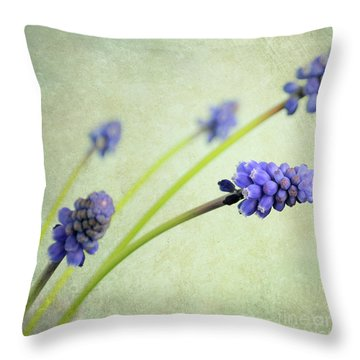 Hyacinth Grape Throw Pillow by Lyn Randle